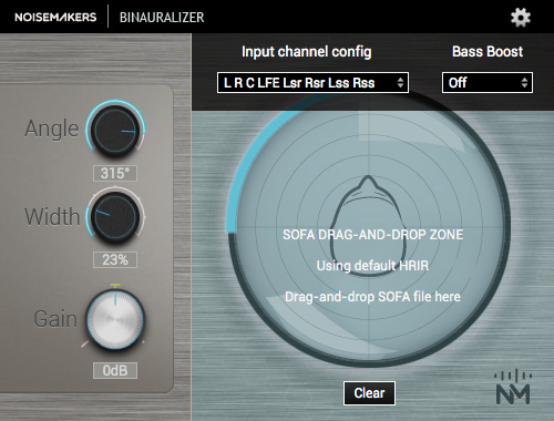 Binauralizer Interface